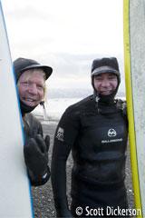 Alaska Surfing buddies Don McNamara and Mike McCune