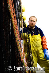 Commercial fisherman during Togiak herring fishery in Bristol Bay, Alaska.