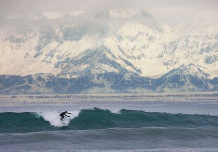 Surfing Yakutat Alaska