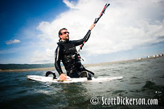 Kitesurfing in Homer Alaska - Trace Carlos.
