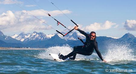Kitesurfing Alaska - Trace Carlos ripping.