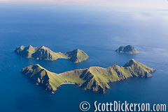 Aerial photo of the Barren Islands