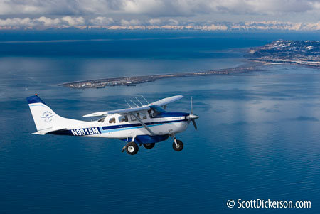aerial photographer - air to air photo of airplane in Alaska
