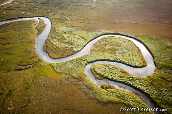 Aerial photography from a powered paraglider or Paramotor in Alaska.