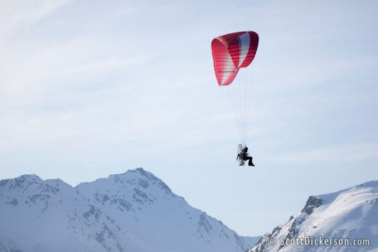 paramotoring over the kenai mountains in alaska