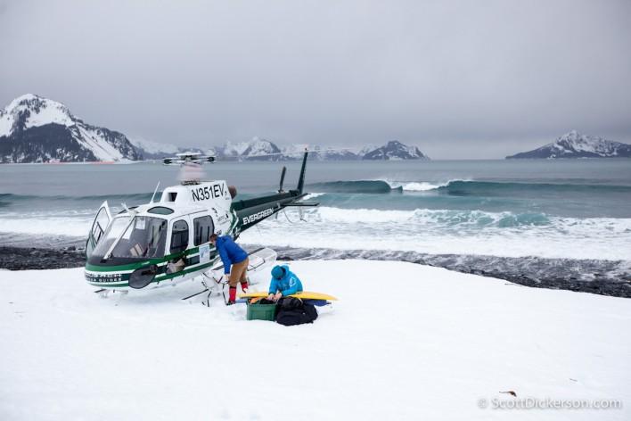 Helisurfing in Alaska