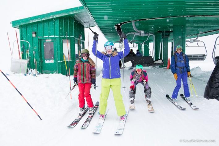 SheJumps Get the Girls Out skiing at Alyeska Resort, Girdwood, Alaska