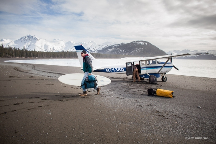 Fly-Out Surfing Alaska, Scott Dickerson Photography