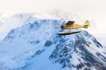 Air-to-Air Stinson over glacier, Alaska, Scott Dickerson Photography