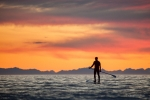 Sunset SUP Alaska, Scott Dickerson Photography
