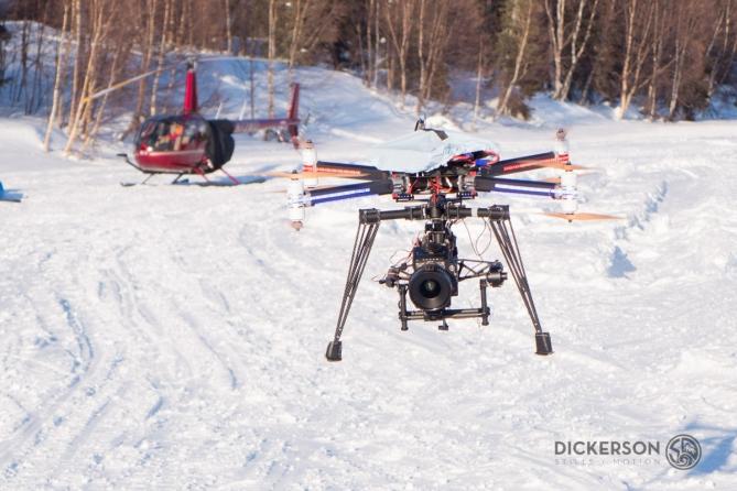 drone uav quadcopter cinestar freefly RED EPIC dragon Alaska